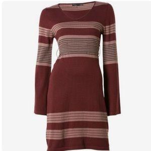 Prana Sydney Striped Bell Sleeve Sweater Dress
